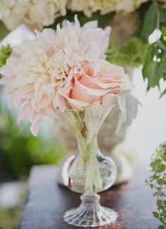 Dahlia + rose + bud vase