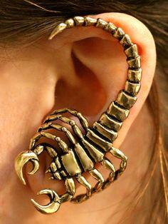Bronze Scorpion Ear Wrap