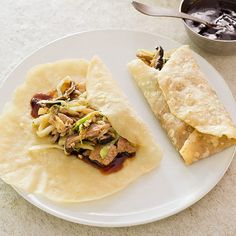 We found that making Mandarin pancakes—the traditional wrapper for mu shu pork filling—is remarkably easy, thanks to hot water in the dough. The pork filling comes together while the dough rests.