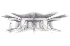 A basic drawing of an interior space. However shows a nice use of shadowing