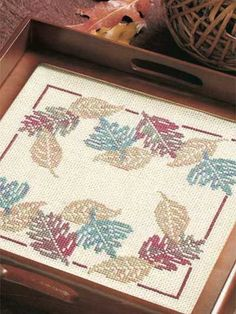 Cascade of Leaves free cross-stitch pattern of the day from freepatterns.com 9/11/13