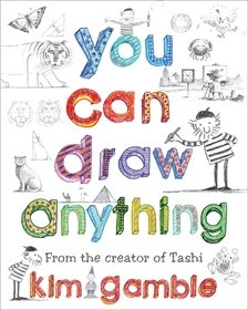 Book resource: You Can Draw Anything. With lots of examples, step-by-step guidance, helpful tips, jokes, stories and flip pictures, Kim Gamble shows: How to draw animals, faces, bodies, people in action, buildings, machines ... anything! How to give your pictures depth, using perspective. How to give them form, using light and shade. How to look, see, draw, explore and have fun! The publisher advises it for kids aged 8-12.