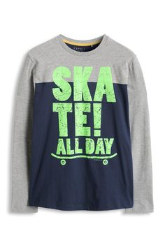 ESPRIT Boy's 085EE6K007 Skateall Day T-Shirt: Amazon.co.uk: Clothing