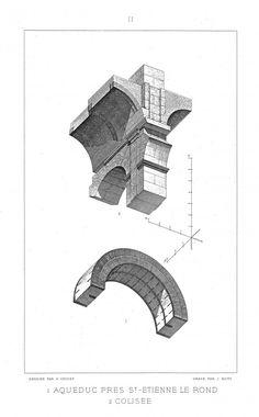 auguste choisy architecture illustration 03 570x920 Larchitecture en perspective axonométrique plafonnante par Auguste Choisy