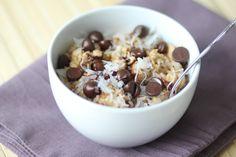 Cookie Dough Oatmeal #breakfast