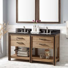 "60""+Celebration+Double+Vanity+for+Rectangular+Undermount+Sinks+-+Rustic+Acacia"