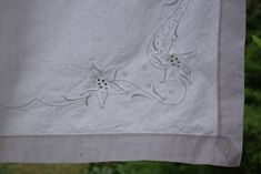 Pair of Linen Sheets Antique Romantic Embroidered Fabulous EG Monogram C 1910 Material Organic Upholstery Handmade Embroidered Home Decor Handmade Home Decor, Handmade Items, Lace Valances, Striped Upholstery Fabric, Lace Bedding, Linen Sheets, Linen Curtains, Vintage Country, Fabric Decor