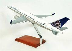 B757-200 Continental - Premium Wood Designs #Commercial #Aircraft premiumwooddesigns.com