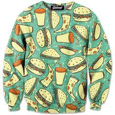 Burgers Soda & Pizza sweatshirt @megcasablancas isn't this amazing??