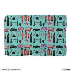 London Hand Towel #London #England #UnitedKingdom #Britain #British #Icons #Towel