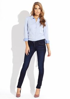 Bleu Lab denim - The 5-pocket ankle legging   So flipping cute also is reversible jean - one of the only companies to do this so far!