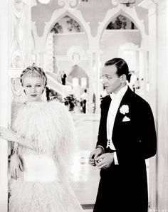 Fred Astaire and Ginger Rogers. Top Hat. I love watching these old movies! Famous love...or hate sometimes