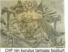 Turkish Kemalist propaganda poster for the anniversary of the republic in Wolf Sculpture, Turkish Army, Turkish People, Orient Express, Illustrations, Master Chief, Vintage World Maps, Nostalgia, Flag