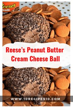 Reese's Peanut Butter Cream Cheese Ball INGREDIENTS 8 oz. cream cheese 1 cup powdered sugar cup Reese's spreads 3 tbs. Peanut Butter Snacks, Peanut Butter No Bake, Peanut Butter Balls, Reeses Peanut Butter, Dessert Dips, Köstliche Desserts, Delicious Desserts, Dessert Cheese Ball, Keto Chocolate Fat Bomb