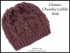 This Housewife Life: Classic Chunky Cable Hat ~Free Pattern~