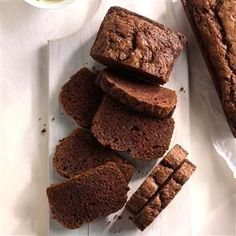 Chocolate Zucchini Bread Recipe -I shred and freeze zucchini from my garden each summer so that I can make this bread all winter long. Our family loves this chocolaty treat.—Shari Mckinney, Birney, Montana