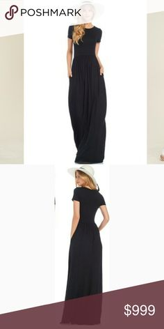 Coming Soon! Spring Must Have Black Maxi Dress. Coming Soon! Spring Must Have Black Maxi Dress. Available on 03/14 this dress is the perfect addition to your spring wardrobe. Perfect for a casual weekend or a night out. Fit and flare silhouette, short sleeve, inside pocket. MADE of soft rayon jersey. MADE IN USA. Feel free to ask any questions before purchase. Bundle 2 or more items to get automatic 10% discount. Dresses