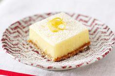 Cuadritos cremosos de limón