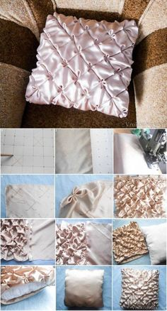 DIY Pillow with Flower Patterns DIY Projects | UsefulDIY.com Follow Us on Facebook ==> http://www.facebook.com/UsefulDiy