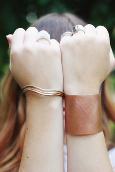 A tutorial for making your own etched copper cuff by The Merrythought.