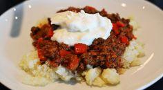 Lækker opskrift på dukan chili con carne, som er nem og lige til at gå til med ingrediensliste og fremgangsmåde.
