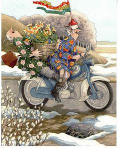 In a small village in Finland lives the world-famous artist-illustrator Inge Löök. Inge Look - pseudonym of the artist, real name Ingeborg Lievonen. Art And Illustration, Old Lady Humor, Fantasy Magic, Whimsical Art, Old Women, Illustrators, Folk Art, Artsy, Sketches