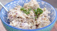 Makreelsalade - Lovemyfood.nl Fodmap, Potato Salad, Bbq, Easy Meals, Brunch, Food And Drink, Appetizers, Fish, Snacks