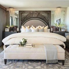 Master bedroom decor tips - Eliminating clutter is the best reaction you can have for those home design. Dream Bedroom, Home Bedroom, Bedroom Makeover, Bedroom Design, Luxurious Bedrooms, Master Bedrooms Decor, Bedroom Decor, Home Decor, House Interior