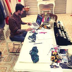 Woodstock Work! :-) Matteo Mauri at work! #office #creation #design #stilista #lavoro #ufficio #moda #stile #beachwear