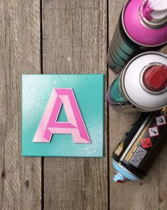 Excited to share this item from my shop: Letter A. Space Galaxy Effect, Wall Alphabet Seaside Art, Beach Art, Spray Paint Art, Spray Painting, Driftwood Frame, Painting Wooden Letters, Cerise Pink, Hello Sunshine, Green Backgrounds