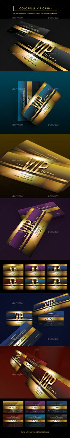 Colorfull Vip Card — Photoshop PSD #company #vip card • Available here → https://graphicriver.net/item/colorfull-vip-card/14467145?ref=pxcr