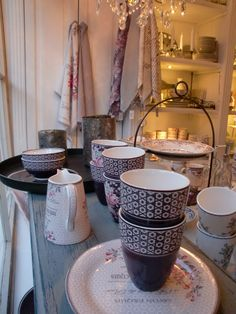 GreenGate Ceramic Evelyn & Anne Mauve
