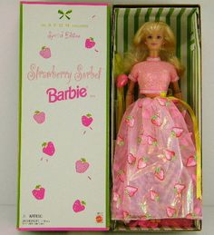 Barbie Mattel 20317 Strawberry Sorbet Doll Avon Exclusive 1998 New | eBay