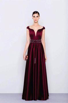 Resultado de imagem para vestido de festa longo vermelho