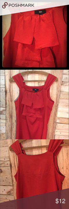Chiffon ruffle breast tank top blouse S Mossimo ruffle breast blouse. Great condition. Mossimo Supply Co Tops Tank Tops