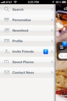 Ness iPhone custom navigation screenshot