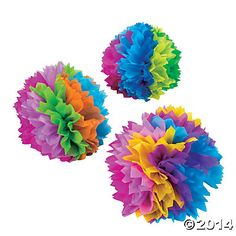 Fiesta Flower Tissue Centerpieces, Centerpieces, Party Decorations, Party Supplies - Oriental Trading