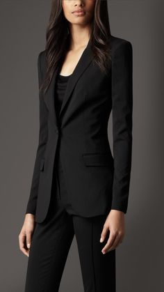 Burberry Tailored Wool Blend Jacket  HMMM GOOD GOAL FOR ME........