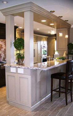 Merveilleux Open Kitchen With Support Wall Design, Pictures, Remodel, Decor And Ideas    Page Design Ideas Decorating Interior Design 2012 Designs