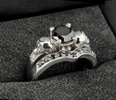 A Dark Mark of love: these subtle skull engagement rings will be the death of me