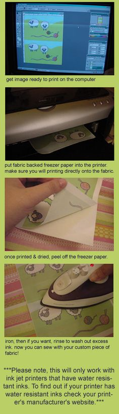 FREEZER PAPER TO PRINT ON FABRIC limelady: freeze your fabric?