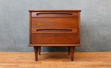 $154 American of Martinsville Mid Century Nightstand 23w 16d 23h 13c0122a