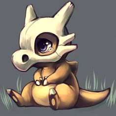Cubone - more like CUTEbone. It's always such an adorably sad and morbid pokemon at the same time!