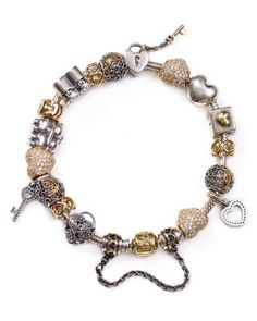 PANDORA Bracelet & Charms - Heart of Gold, Moments Collection | Bloomingdale's