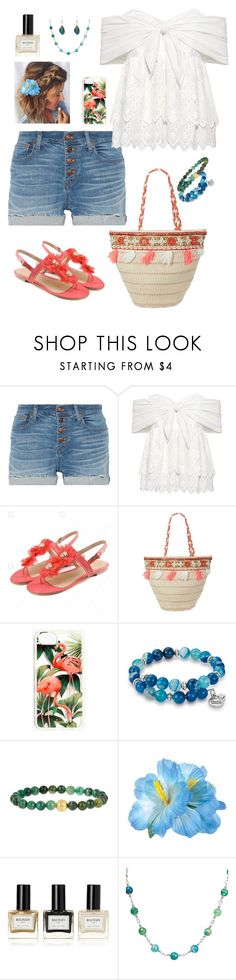 """Geen titel #425"" by miriam-witte ❤ liked on Polyvore featuring Madewell, Sea, New York, Balmain, West Coast Jewelry and Robert Lee Morris"