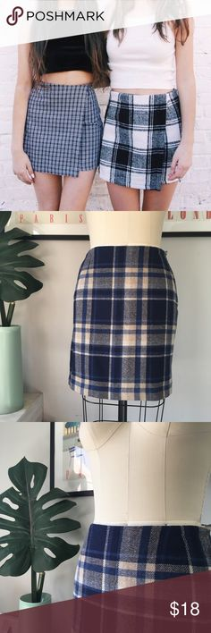 """Vintage•Plaid Mini Skirt Totally Clueless style late 80s early 90s plaid mini skirt! Excellent condition. TR Bentley is the brand. Tagged 6, please see measurements to ensure the best fit!   MEASUREMENTS Waist 13.5"""" Across Hips 20"""" Across Length 17.25"""" Vintage Skirts Mini"""
