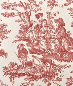 Waverly Country Life Toile Garnet Fabric : Image 2 does any one know if there is a story attached to the pictures on here?
