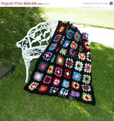 On Sale Traditional  Granny Square Crochet  by isabellasafghans, $62.99
