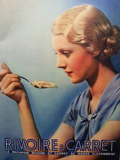 Rivoire et Carret art deco #advertisement French macaroni by OldMag, $10.00 #food #ad