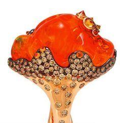 0rganic treasure, Fire Opal Ring by Alessio Boschi